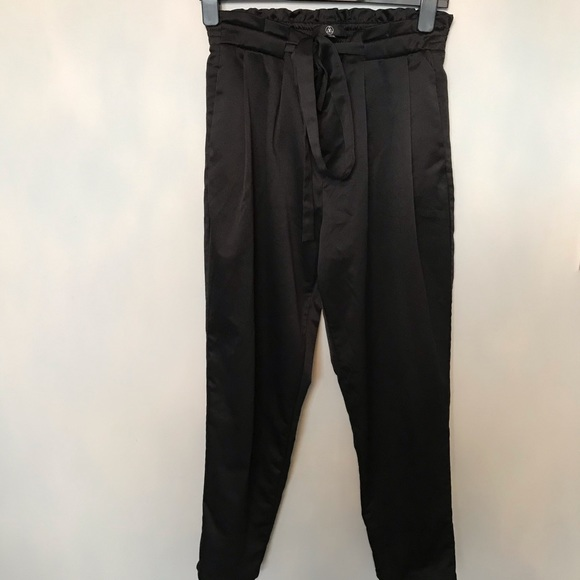 Satin Tie Front Trousers